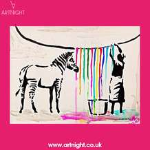 Artnight-paint-sip-evening-banksy-washing-zebra-1570633157