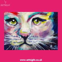 Artnight-paint-sip-evening-colourful-cat-1568125888